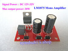 DC 12V-32V 24V LM1875 Mono 30W Power Audio Amplifier Board Amp Super TDA2030