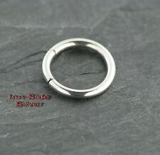 Smooth Segmento Anello Piercing Creolen orecchino 2,5x12mm Petto Piercing anello al naso