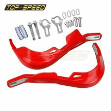 "RED Brush Handguard Raptor Hand Guards 7/8"" 22MM Handlebar Motocross Dirt Bike"