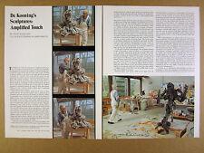 1974 Willem de Kooning Recent Sculptures working in studio photos print article