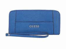 Guess Blue ziparound wristlet purse ��% authentic