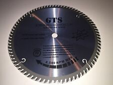 "GTS 10"" 80 Tooth, TCT Circular Saw Blade 5/8 Arbor, Warranty, Combined Shipping"