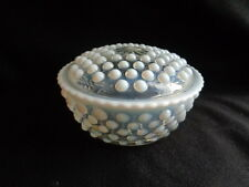 A. HOCKING -MOONSTONE 1940'S ROUND POWDER PUFF JAR