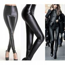 Sexy Womens Wet Look Faux Leather Leggings Stretch Skinny Pants Trousers TXWD