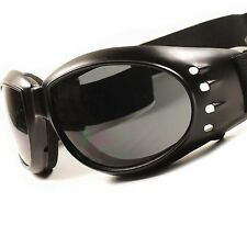 Motorcycle Biker Riding Black Cool Foam Back Padded Strap Goggles Sunglasses E31
