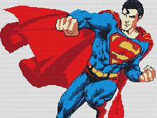 """Superman Compté Cross Stitch Kit 12 """"x 9"""" dessins de fil super héros"""