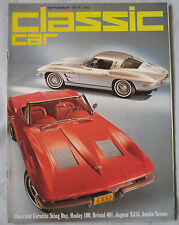 Classic Cars 09/1974 featuring Jaguar XJ13, Chevrolet Corvette, Austin Healey