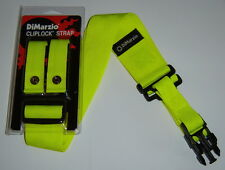 Dimarzio YELLOW Cliplock Strap fits Ibanez Steve Vai DY Desert Yellow Jem 7V RG