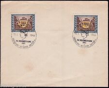 GERMANY 1943 Stamp Day semi-postal 6pf+24pf x2 FD cancelled on envelope @JD9304