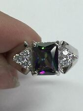 Signed NE 925 Sterling Silver Ring With CZ Stones Size 8