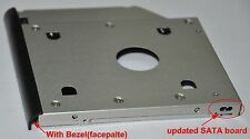 2nd HD SSD Hard Drive Caddy Adapter Enclosure Bezel for HP EliteBook 2530p 2540p