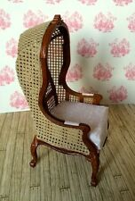 Hooded Chair, Doll House Miniature, Furniture, Quality, Seating, 1.12 Scale