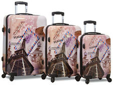 New Dejuno 3 Pcs Polycarbnate Hard Shell Suitcase / Travel Luggage Set - Flight