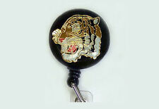 TIGER Retractable Reel ID Card Badge Holder/Key Chain/Security Ring