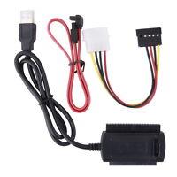 """Hot USB2.0 IDE-SATA-Adapter-Kabel 2,5 """"3,5"""" HDD & 5,25 """""""