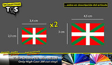 Bandera Pais Vasco x3 pegatina ikurriña 01 sticker flag decal 3M 50 Series