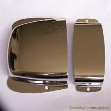CHROME JAZZ TYPE BRIDGE + PICKUP COVER PLATE VINTAGE BASS GUITAR JB STYLE NEW