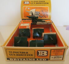 BRITAINS 9704 RARE DEALER BOX DISPLAY UNIT 25 POUNDER GUN HOWITZER X 6 L@@K