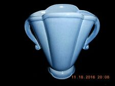 "Red Wing Pottery 6"" Medium Blue/Gray 2-handled Vase #946 Mint Condition"