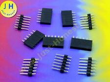 Stk.5 x BUCHSENLEISTE + STIFTLEISTE 6 polig KIT HEADER/Pin Strip Arduino #A1788