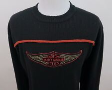 Harley-Davidson Motorcycles Lambswool Embroidered Crewneck Sweater XXL 2XL Japan