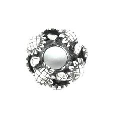 SUNFLOWERS rondelle - Flowers - Solid 925 sterling silver European charm bead