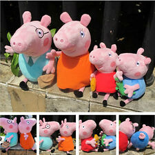 4PCS Peppa Pig Stuffed Soft Toy Plush Doll Peppa George Mummy Daddy Xmas Gift