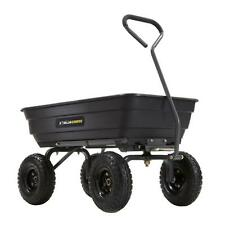 Garden Wheelbarrow Dump Cart Outdoor Lawn Wagon Trailer Barrow Mulch Dir Compost