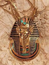 VINTAGE LARGE EISENBURG EGYPTIAN REVIVAL KING TUT PENDANT IN VERY NICE CONDITION