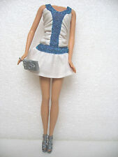 TENUE COMPLETE ROBE SAC CHAUSSURES POUPEE BARBIE CLOTHES BAG SHOES F40
