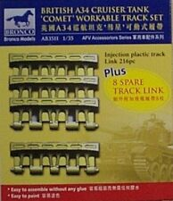Bronco 1/35 British A34 Cruiser Tank Comet Workable Track Link Set 3511