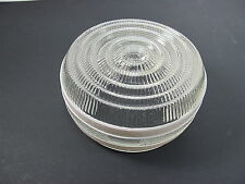 Vintage Round White & Clear Glass Ceiling Light Fixture Shades Covers