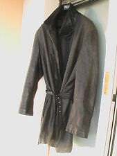 LANVIN - Paris  Manteau cuir de cerf  54 56 Deer Leather Coat Hirsch Ledermantel