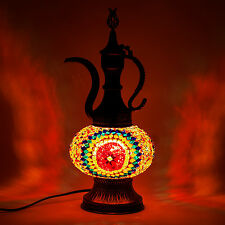 Turkish Lamp Ottoman Pitcher Style Unique Lighting Mosaic Pitcher Glass Lamps