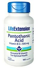 Pantothenic Acid (Vitamin B5) - Life Extension - 500 mg - 100 Capsules