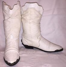 Vintage Womens Size 8 M ZODIAC Cowgirl Cowboy Western Faux Croc Slouch Boots