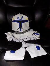 Build a Bear Star Wars Captain Rex Clone Trooper 2pc Costume Outfit Uniform EUC