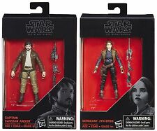 "Star Wars The Black Series 3.75"" Rogue One Captain Cassian Andor & Jyn Erso"