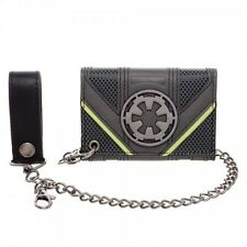 STAR WARS ROGUE ONE EMPIRE SYMBOL DEATH TROOPER BLACK BI-FOLD WALLET WITH CHAIN