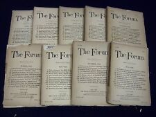 1889 THE FORUM MAGAZINE LOT OF 9 DIFFERENT - GREAT ARTICLES & STORIES - WR 695