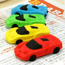 2x Novelty Removable Racing Car Shape Eraser Rubber Stationery Sweet Kid Gift