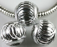 Lots Mixed Aluminum Carved Lantern Spacer Handmade Beads Jewlery DIY 6/8/10/12MM