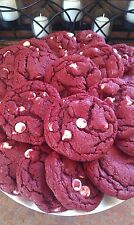 RED VELVET WHITE CHOCOLATE CHIP COOKIES, HOMEMADE, 2 DOZEN, DELICIOUS!!!