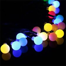 9M Solar Power 20 LEDS Ball Fairy String Lights Xmas Outdoor Garden Path Decor
