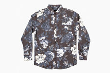 Insight Cheeba Cheeba Button Down Shirt (M) Black Out Blue