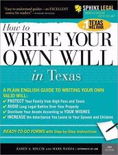 How to Write Your Own Will in Texas (Legal Survival Guides)-ExLibrary