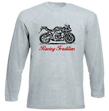 APRILIA RS4125 2012 TRADITION P - GREY LONG SLEEVED TSHIRT- ALL SIZES IN STOCK