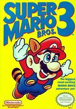 Super Mario Bros 3 Nintendo NES Video Game Cartridge Only Label Flaws