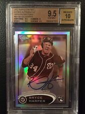 2012 Topps Chrome Rookie Autographs Sepia Refractors Bryce Harper BGS 9.5 Gem