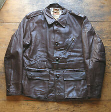 Vtg 50's Daniel Boone Trailblazer Brown Goatskin Leather Hunting Jacket 38R